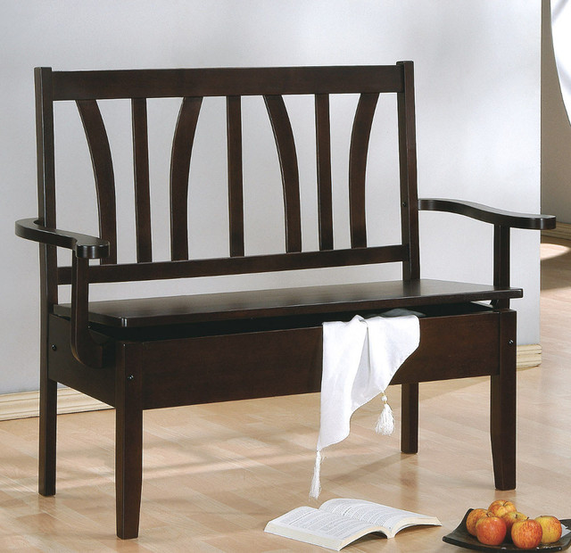 Cappuccino 50in.L Storage Bench contemporary-indoor-benches