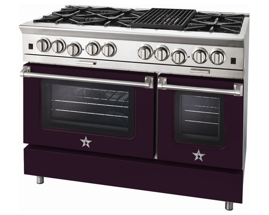 "BlueStar Platinum Series: 48"" Range - 48"" BlueStar Platinum Range in Purple Violet (RAL 4007)"