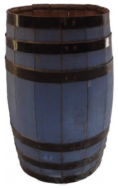 Blue Vintage Storage Barrel eclectic-storage-bins-and-boxes