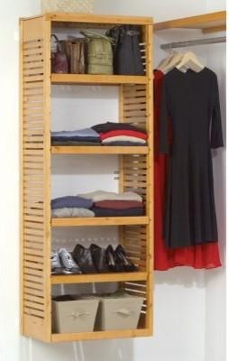 John Louis Home Stand Alone Adjustable Tower Kit-12 inch Depth modern-closet-organizers