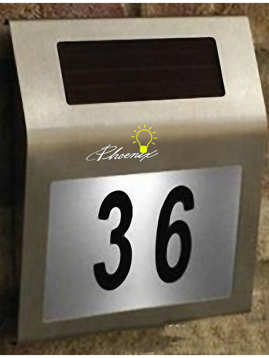 Auto Lighting in Night Solar LED Doorplate - Auto Lighting in Night Solar LED Doorplate  in stainless Fnish