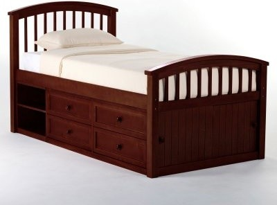 Schoolhouse Captains Bed - Cherry modern-kids-beds