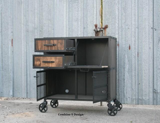 Vintage Industrial Liquor Cabinet/Cart. Bar Cart, Modern, New or ...
