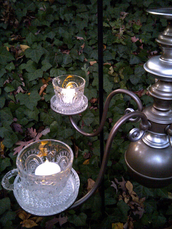 Original Outdoor Lighting Collection - A close up view of the vintage punch cups highlight the pattern.