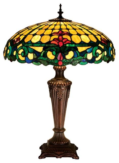 Meyda Tiffany Lamps Table Lamp in Mahogany Bronze transitional-table-lamps