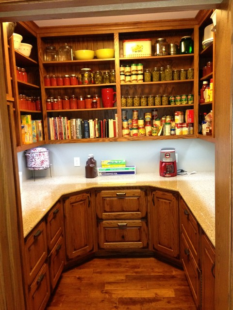 Rustic Oak Cabinetry with Reclaimed Barn Beam Accents  : rustic pantry from www.houzz.com size 480 x 640 jpeg 98kB