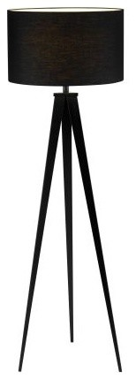 Adesso Black Director Floor Lamp with Black Finish modern floor lamps