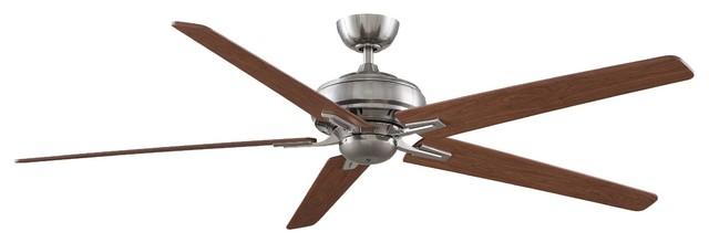 "Fanimation FPD8089PW-NL Keistone Pewter 72"" Ceiling Fan + Remote Control modern-ceiling-fans"