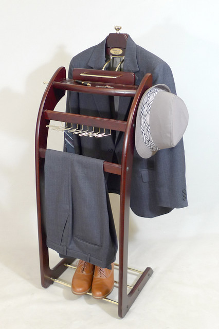 Windsor Signature Valet Stand Mahogany clothing-valets-and-suit-stands