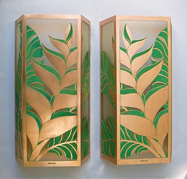 Wall Sconces Tropical : Heliconia Medium Sconces - Tropical - Wall Sconces - hawaii - by Paradise Lights