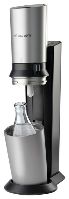 SodaStream Crystal Home Soda Maker Starter Kit, Black contemporary-small-kitchen-appliances