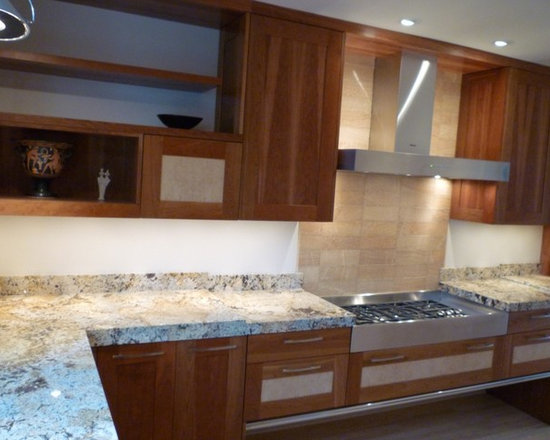 Cherry Ash - Larger than typical edge on granite counter tops for more original look.