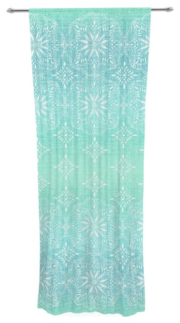 aqua ombre blue teal decorative sheer curtain contemporary curtains