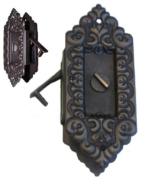 Victorian Style Pocket Door Privacy Lock Traditional