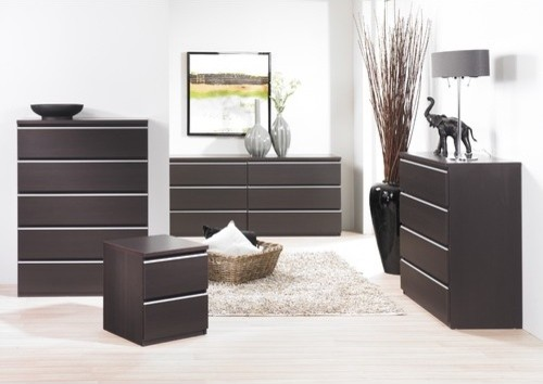 Tucson Bedroom 6 Drawer Double Dresser modern-dressers