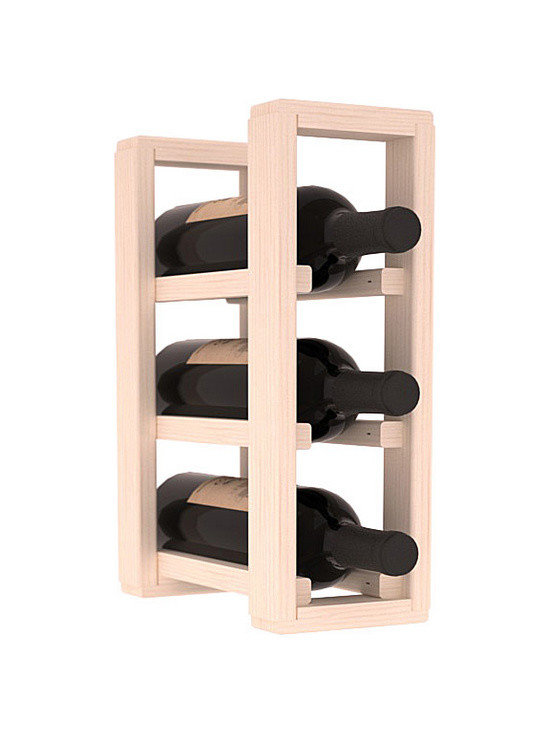 Wine Racks America® - 3 Bottle Counter Top/Pantry Wine Rack in Pine, White Wash Stain - These counter top wine racks are ideal for any pantry or kitchen setting.  These wine racks are also great for maximizing odd-sized/unused storage space.  They are available in furniture grade Ponderosa Pine, or Premium Redwood along with optional 6 stains and satin finish.  With 1-10 columns available, these racks will accommodate most any space!!