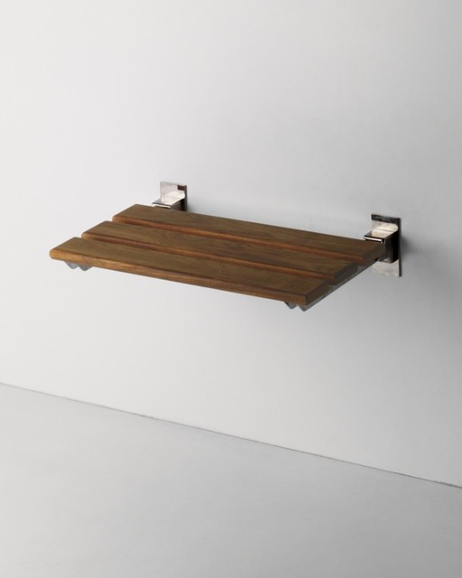 Teak Shower Bench contemporary shower caddies