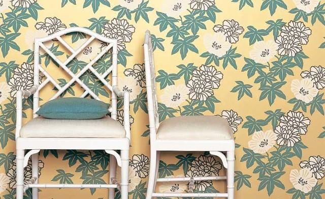 Marenka Wallpaper Azure eclectic-wallpaper