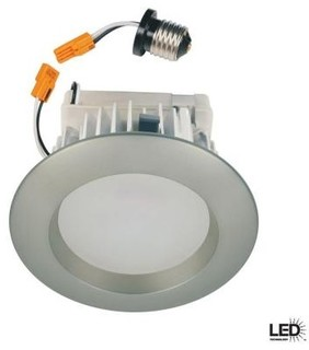 Commercial Electric 4 in. Recessed Brushed Nickel LED Retrofit Trim HCCER473BN - Contemporary ...