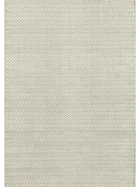 "Herringbone Ocean Woven Cotton Rug, 2'6"" x 8' -"