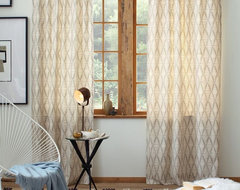 Cotton Canvas Printed Window Panel, Koba contemporary curtains