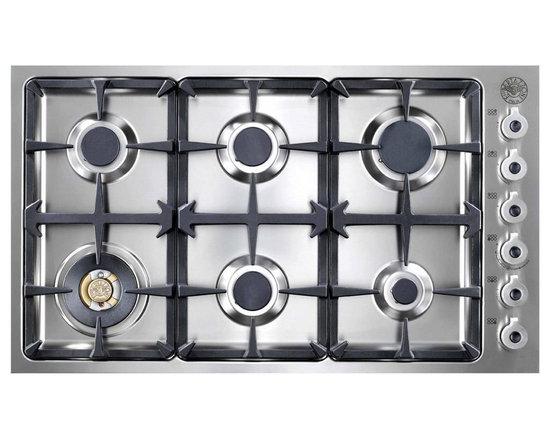 "Bertazzoni 36"" Professional Series Gas Cooktop, Stainless Steel | DB36600X -"