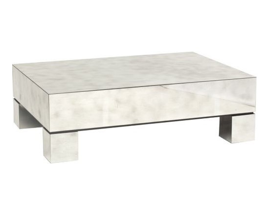 Estelle Rectangle Mirror Cocktail Table - http://www.highfashionhome.com/estelle-rectangle-mirror-cocktail-table.html