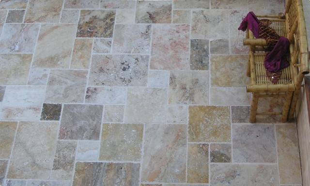Elegant mexican travertine tile tropical new york by elegant tile and stone - Forever tile and stone ...