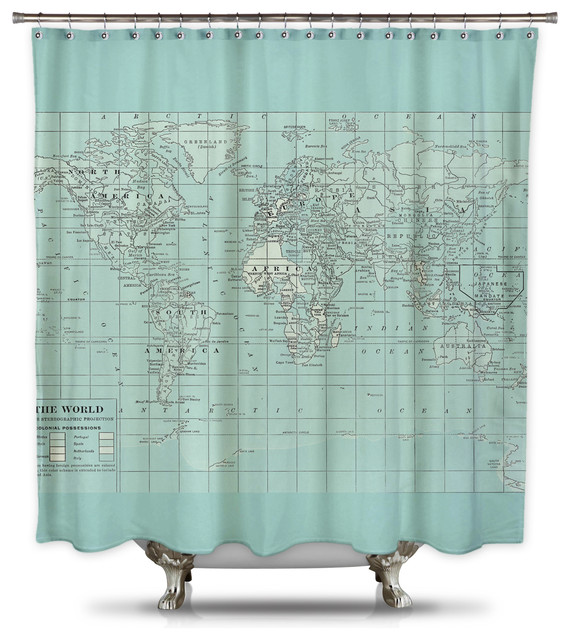 Catherine Holcombe Pillow Fabric Shower Curtain Standard Size Eclectic Shower Curtains By