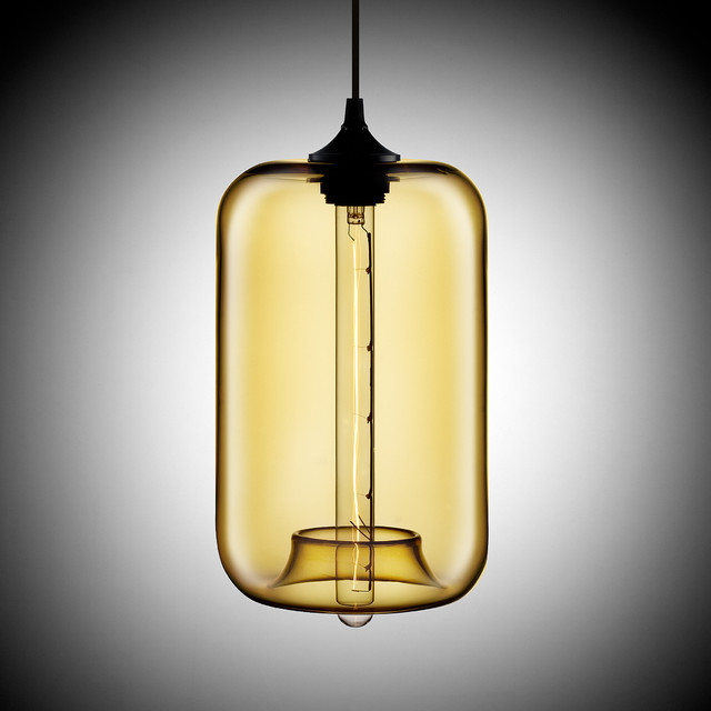 Pod Contemporary Bare Bulb Pendant Light industrial-pendant-lighting