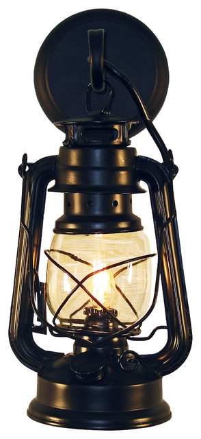 Black Rustic Wall Lights : Rustic Lantern Wall Mounted Light - Small Black - Rustic - Outdoor Wall Lights And Sconces - by ...