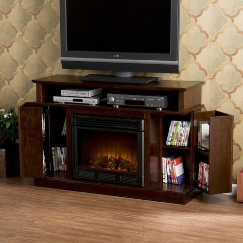 julian 48 tv stand with electric fireplace modern