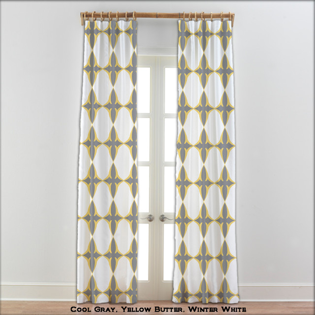 Yellow curtains gray and yellow drapes gray and yellow window pan pictures to pin on pinterest