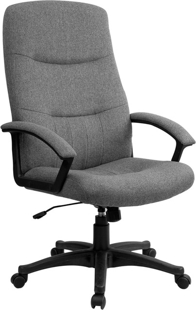 Executive Hi Back Grey Fabric Office Chair By Flash Furniture Contemporary