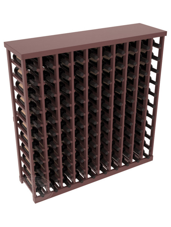 Wine Racks America® - Commercial Wine Rack RetailEDGE™ Standard Base with Solid Top, Walnut Stain + Sa - The Standard Base with the solid top option holds up to 110 bottles. These racks are made to secure and safely store each bottle while providing adequate breathing room. With this solid Ponderosa pine top option, 13 beautiful stain & finish combination choices, these racks will be sure to shine in your wine retail setting. The solid top increases storage space for holding more bottles, cases, or sale advertisements. Additional tops are also available and can be interchanged with ease. Increase your bottom line today with RetailEDGE Series ™.