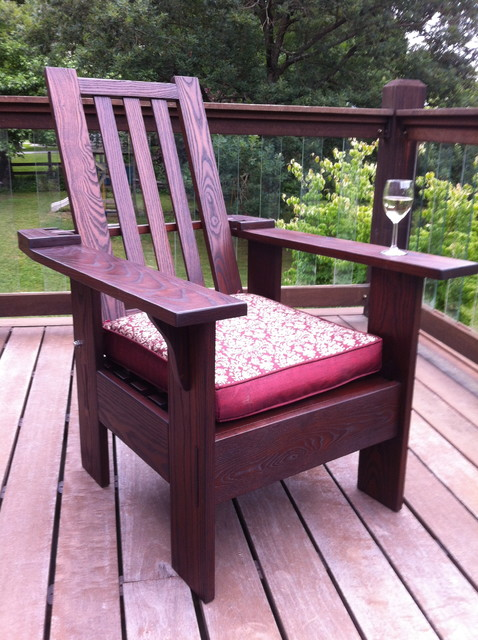 Thermally Modified Morris style Adirondack Chair contemporary-adirondack-chairs