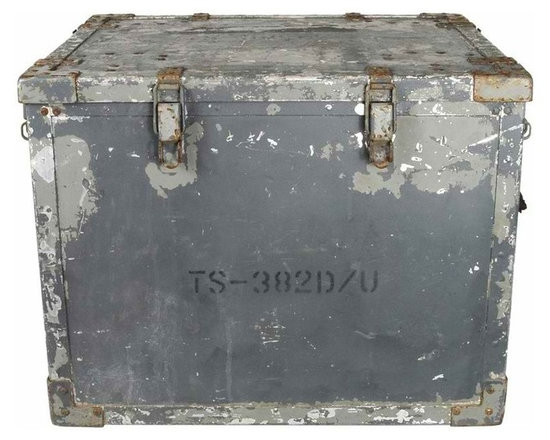 Military Radio Box - These heavy-duty cases were used by the military to transport and store audio oscillators - Audio Oscillator Case CY-688/U by Trav-Ler Radio.  Each one has a unique character and distressed painted finish.