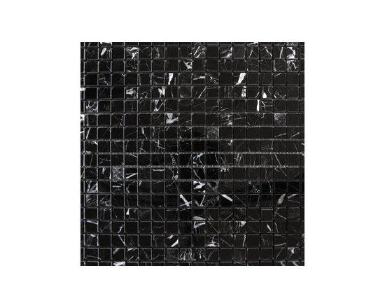 """1.5""""x1.5"""" Negro Marquina Natural Stone Mosaic -"""