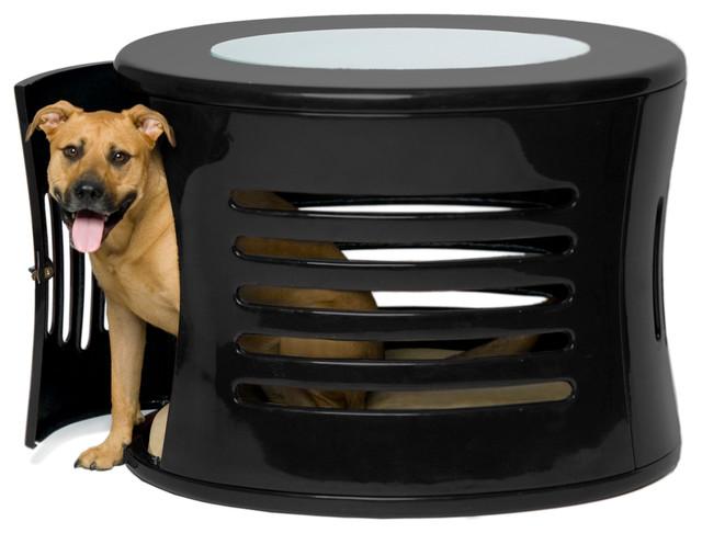 ZenHaus Medium Black Pet Den contemporary-pet-beds