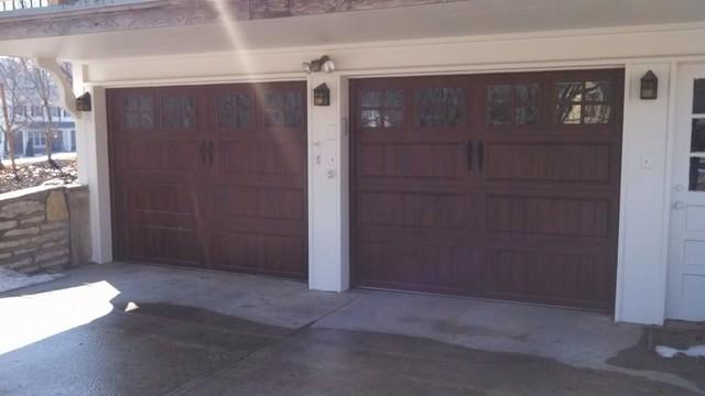 Clopay gallery ultra grain garage door in walnut oak for Clopay gallery ultra grain walnut