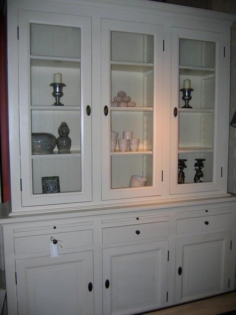 white glass display cabinet 1