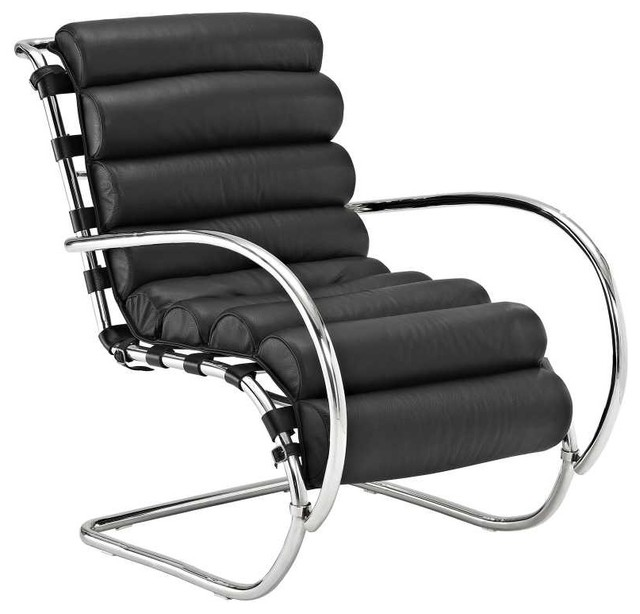 Ripple lounge chair in black modern outdoor chaise for Black chaise lounge outdoor