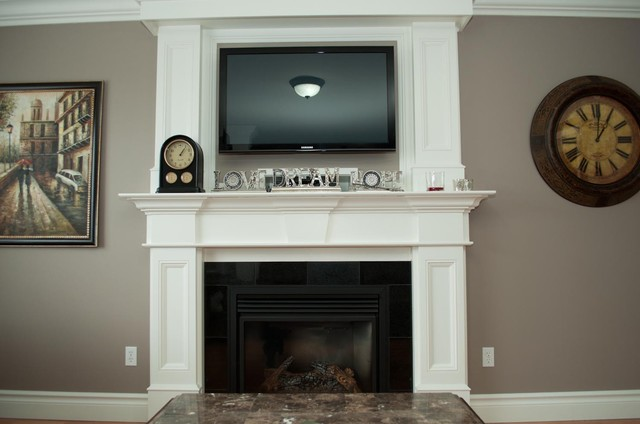 Customized Moulding In New Home Traditional Fireplaces on sunroom furniture
