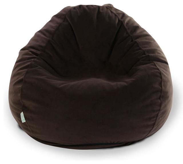 Indoor Dark Brown Faux Suede Small Bean Bag