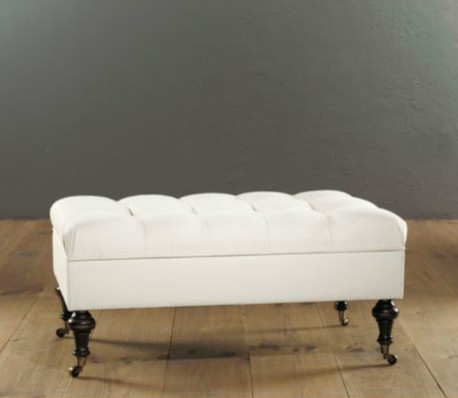 castered tufted storage ottoman contemporary