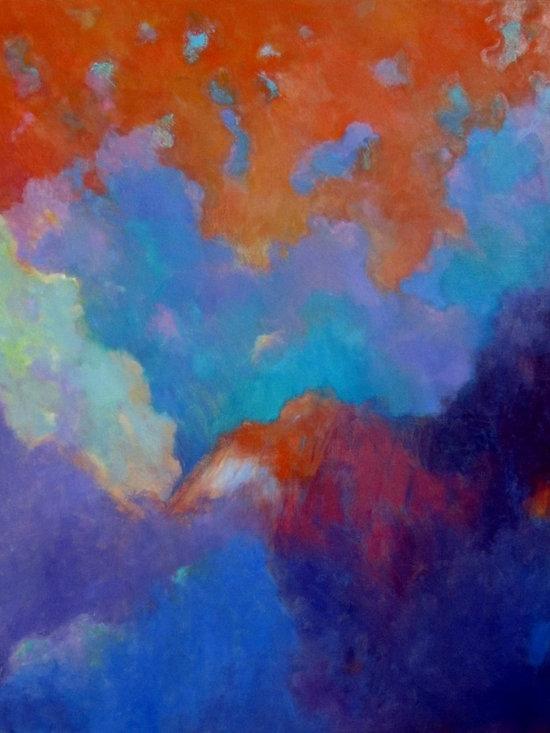 Luminous Landscapes / Sacred Mountain 36x30 -