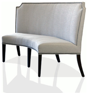 Curved Banquette Transitional Dining Benches Atlanta By Bed Down