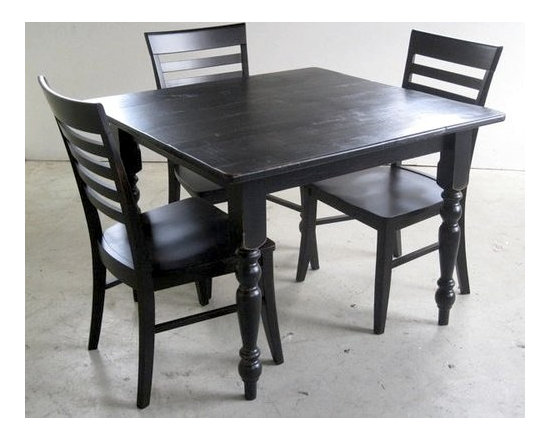 Black Mission Style Dining Chair - Made by http://www.ecustomfinishes.com
