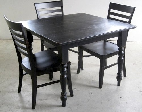 Black Mission Style Dining Chair Farmhouse Dining Chairs boston by EC