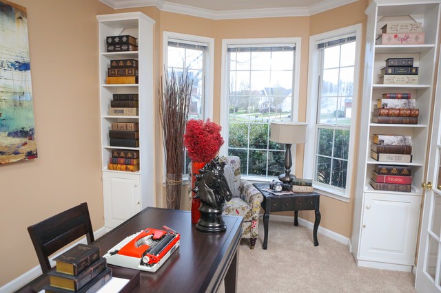 Traditional Home Staging Project traditional home office